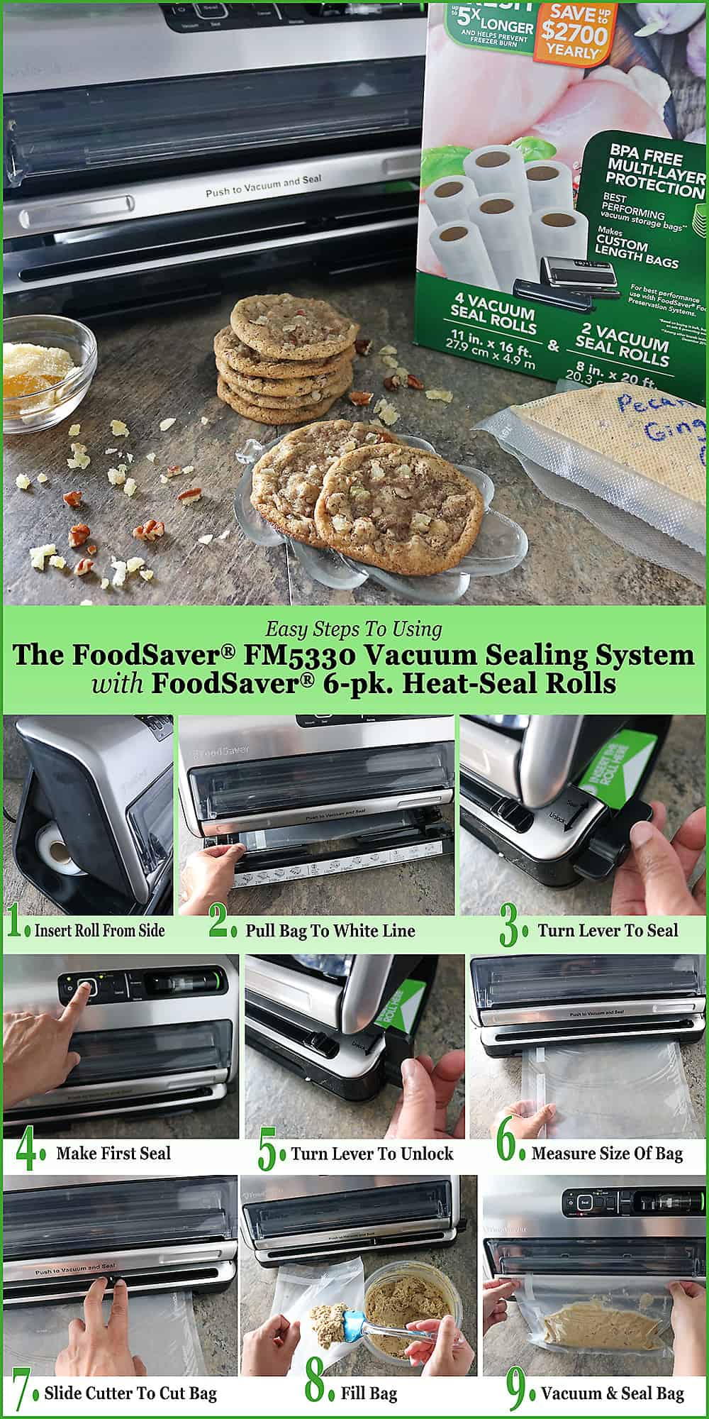 How To Use FoodSaver FM5330 Vacuum Sealing System Image
