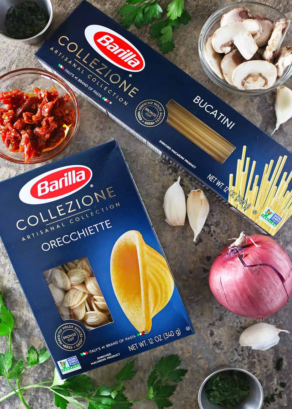 Quick Easy Roasted mushroom sundried tomato Barilla Collezione #ElevateYourMeal Photo