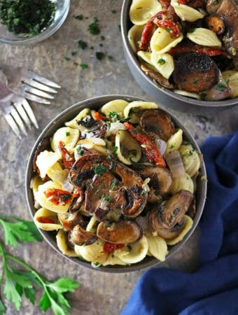 Quick Easy Roasted mushroom sundried tomato pasta #ElevateYourMeal Photo