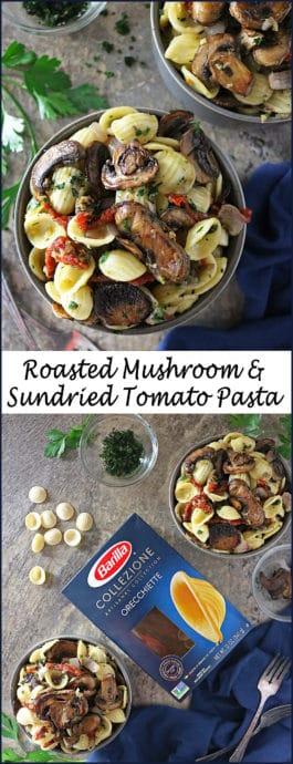 Roasted mushroom sundried tomato pasta easy quick #ElevateYourMeal Photo