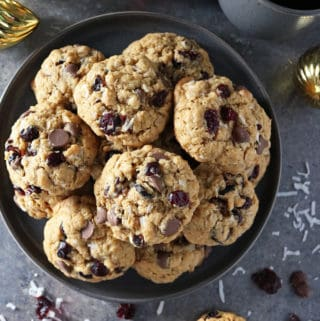Delicious Cranberry Coconut Chocolate Chip Cookies Photo