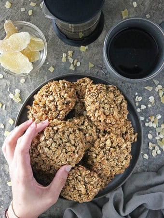 Photo Ginger Granola Breakfast Cookies Recipe