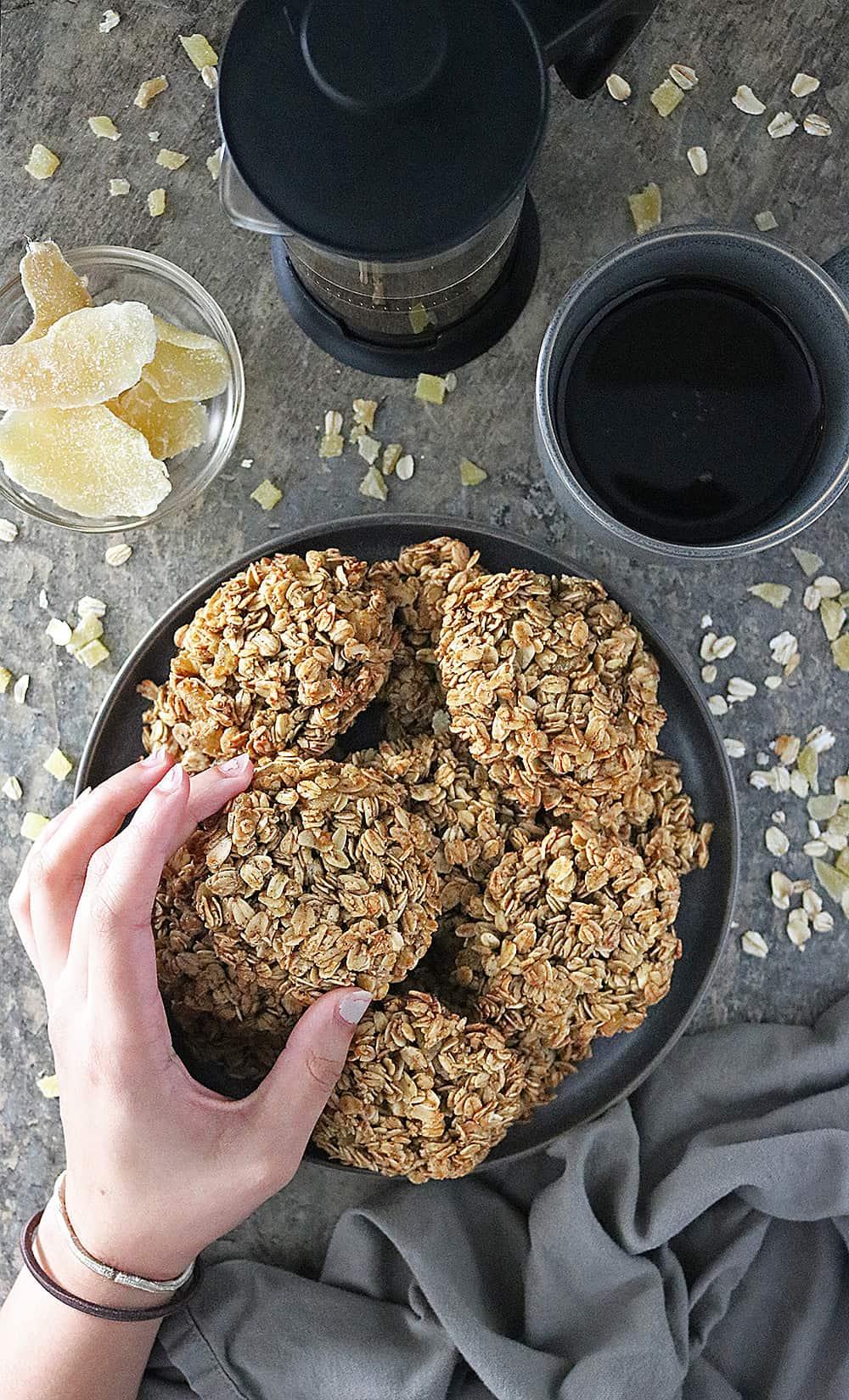 Photo Ginger Granola Breakfast Cookies Recipe
