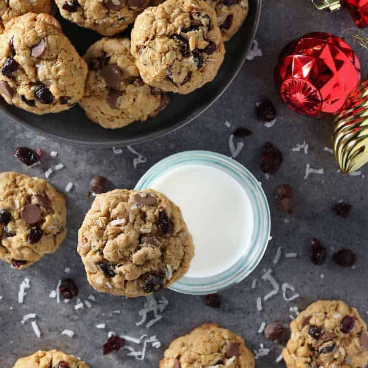 The Best Gluten Free Cranberry Coconut Chocolate Chip Cookies For Christmas Photo