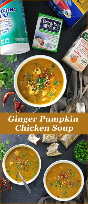 Image Delicious Healthy Ginger Pumpkin Soup With Chicken #SoothesOfTheSeason