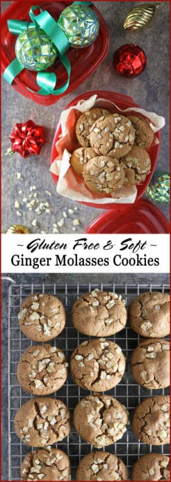 Photo Take a break during this busy holiday season with these soft and gluten free, Ginger Molasses Cookies. They are irresistable with a warm cup of coffee or tea - unless you gift them all away this holiday season