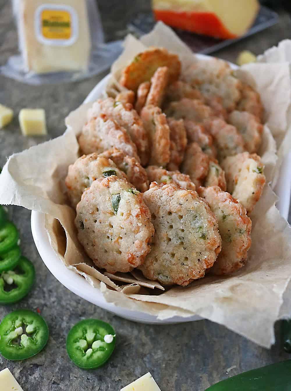 Photo of Easy Versatile Jalapeno Cheese Crackers