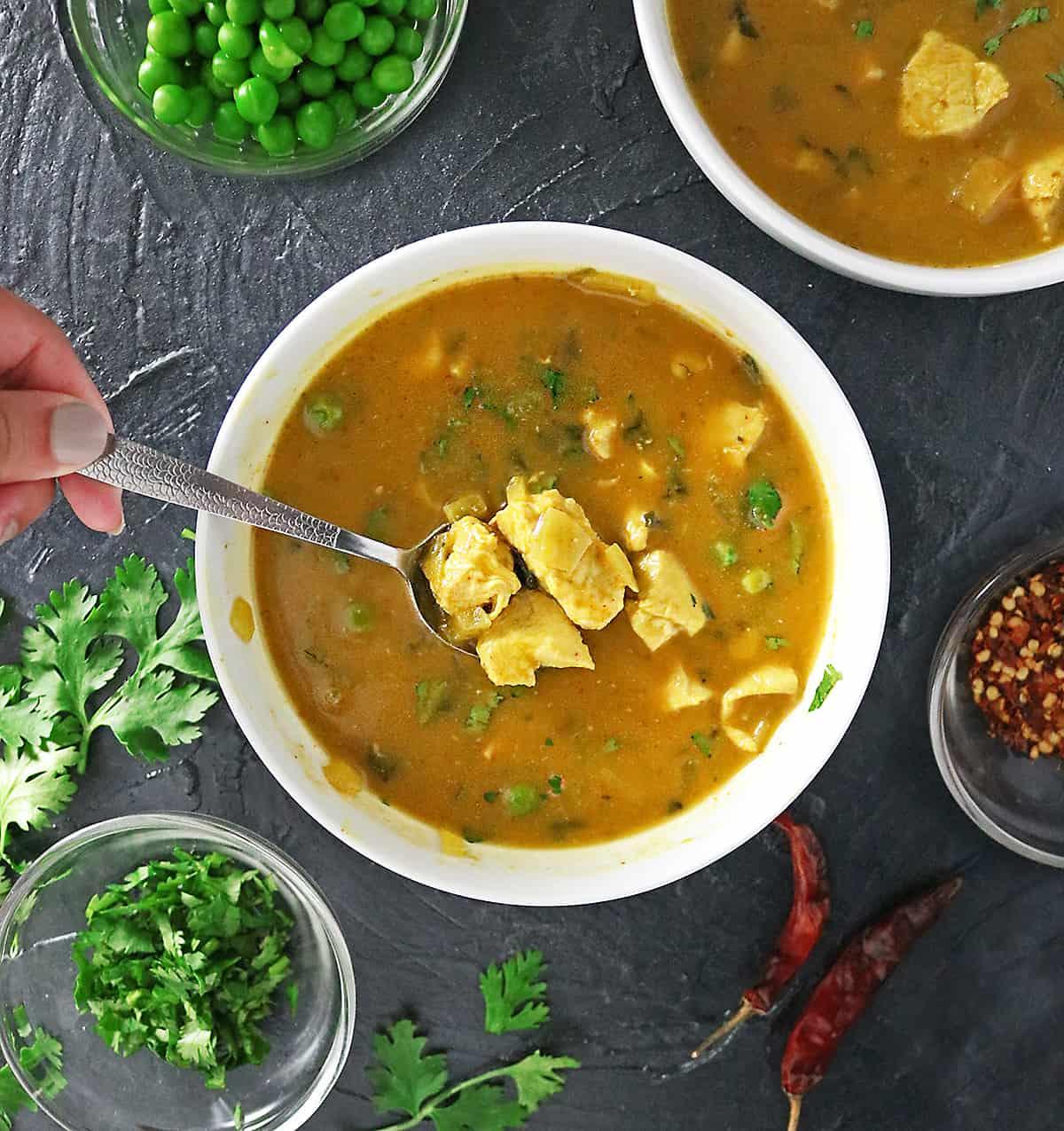 Slurping Ginger Pumpkin Soup Image