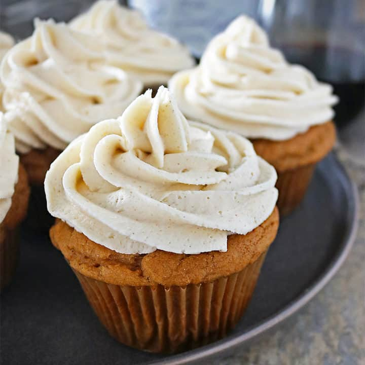 Gluten Free Ginger Sweet Potato Cupcakes With Ginger Frosting Photo