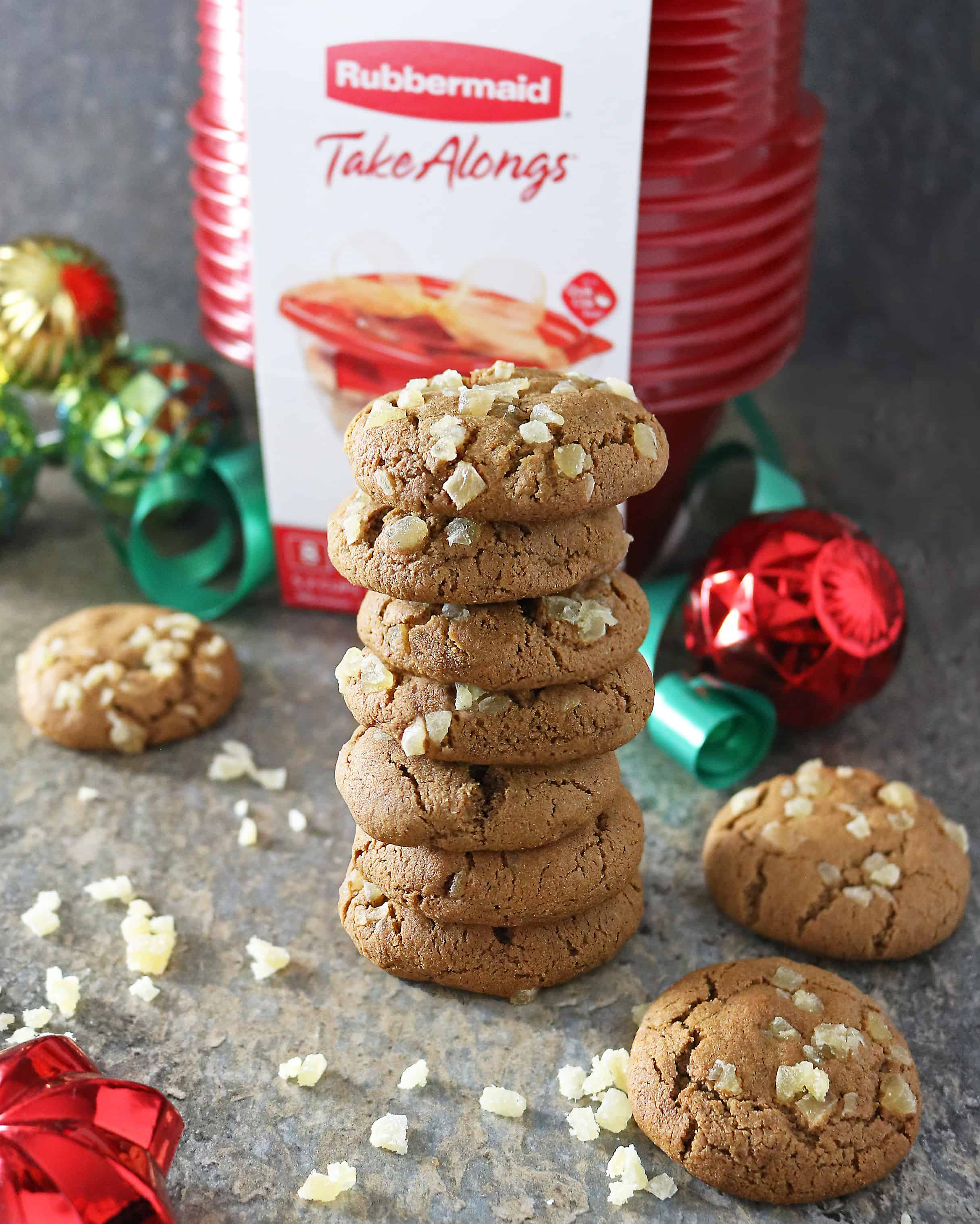 Gluten Free Molasses Ginger Cookies For Christmas Gifting Image