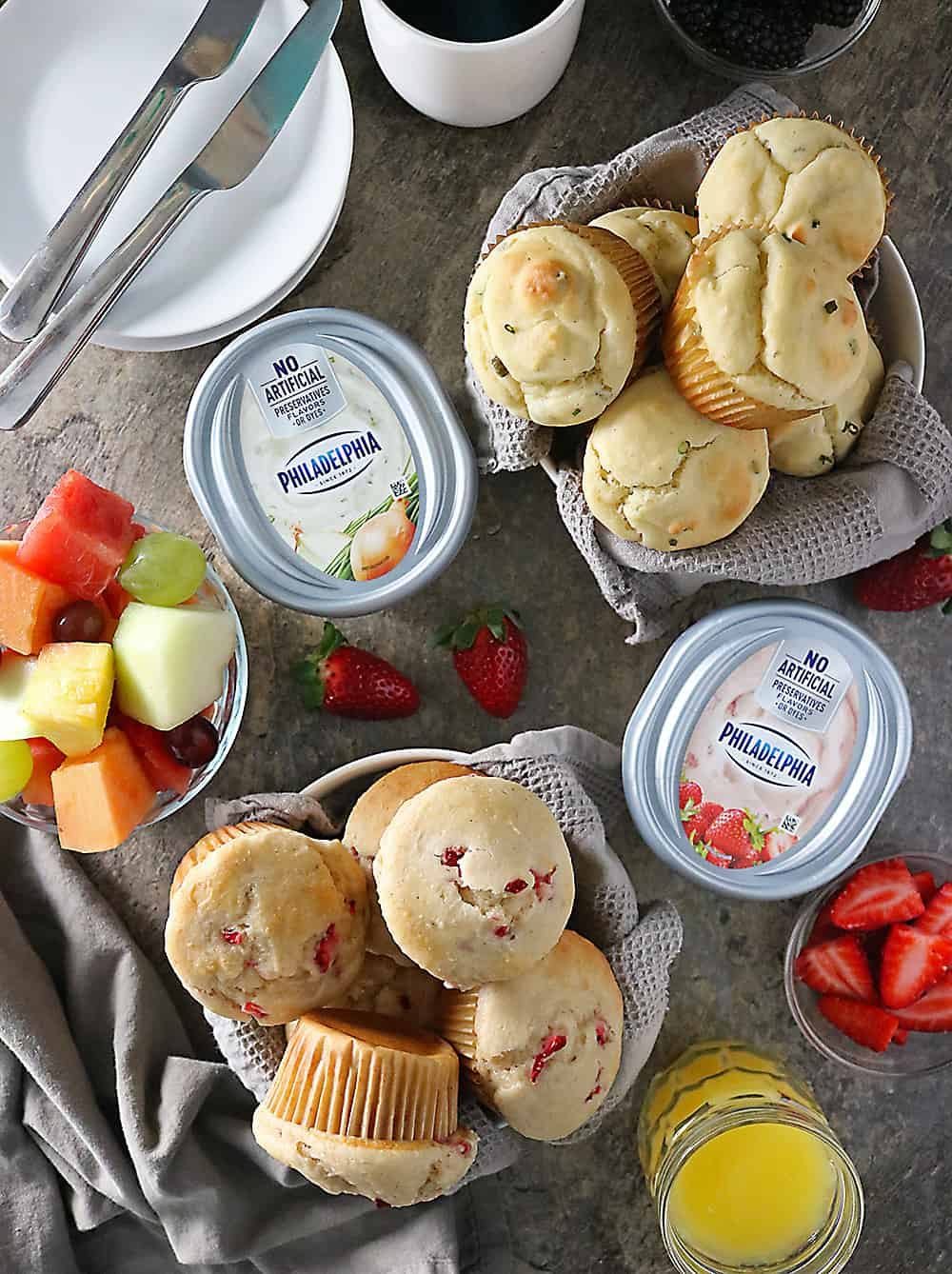 PHILADELPHIA Cream Cheese Muffin Buffet Photo