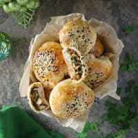 Black Eyed Peas and Greens Stuffed Buns