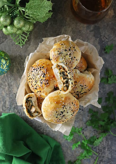 Photo of Spicy Black Eyed Peas Greens Stuffed Buns for New Year!
