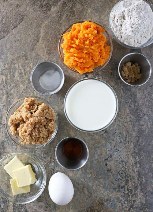 Sweet Potato Cupcake Ingredients Photo