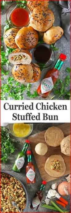 Curried Chicken Stuffed Buns yum