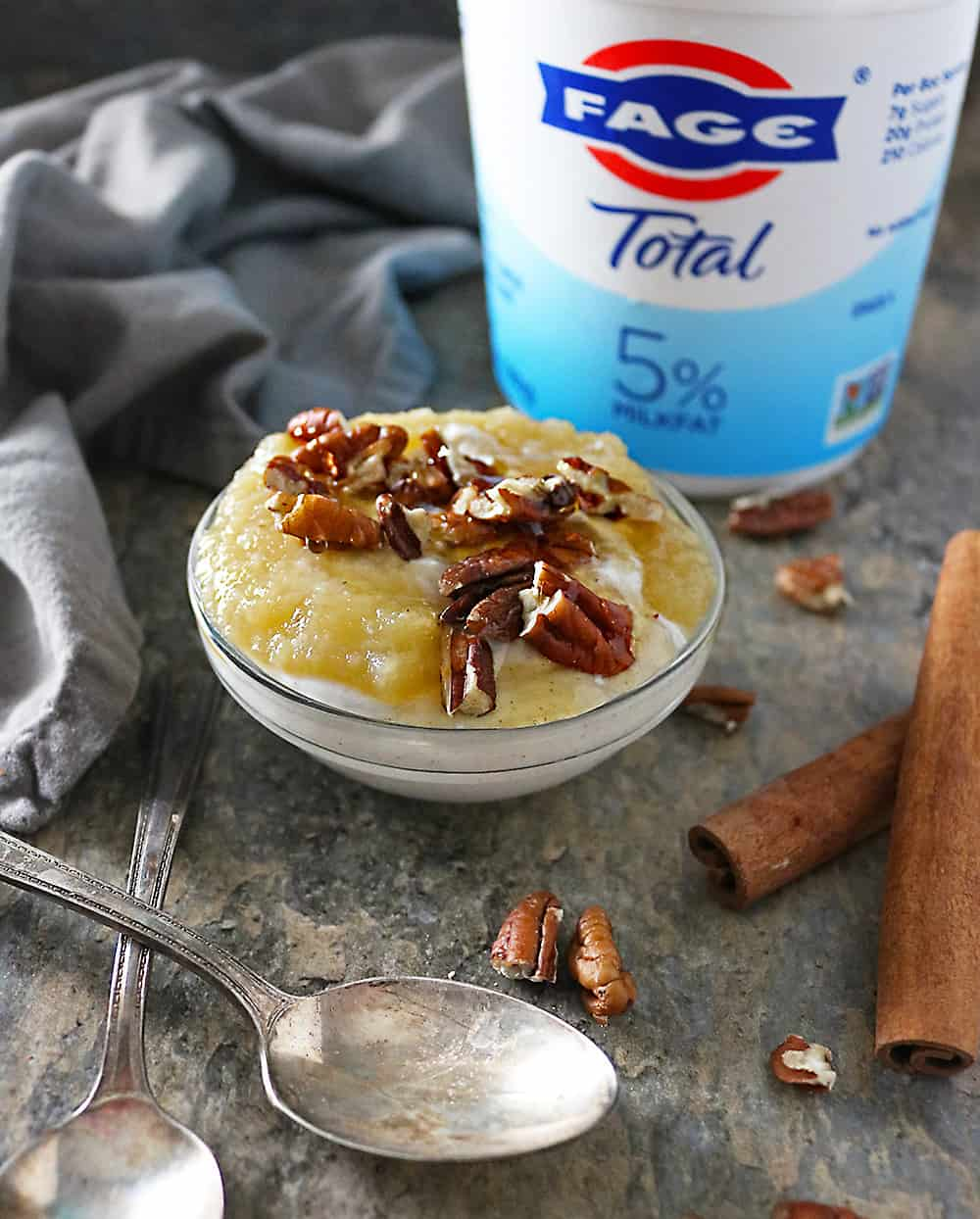 Image Apple Pecan Cinnamon Yogurt Bowl