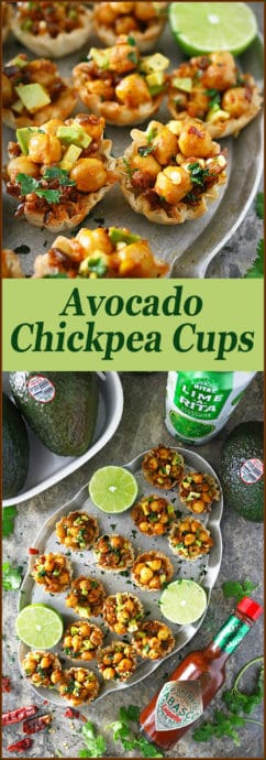 #ad @AvocadosFromMexico are the star of these little Avocado Chickpea Cups along with @TABASCO® Pepper Sauce! Served with fruity, fizzy, & fun, @RITAS, these are a delicious vegetarian option I'm serving up at a virtual Big Game Day get-together with Lauren from Midget Momma, Paula from Bellalimento, Tiffany from Living Sweet Moments, and Vicky from Mess for Less over on my blog!   Also, check out the $1000 GIVEAWAY We are hosting! #SavorWinningFlavors #AvocadosFromMexico #HAVEARITA #FlavorYourWorld