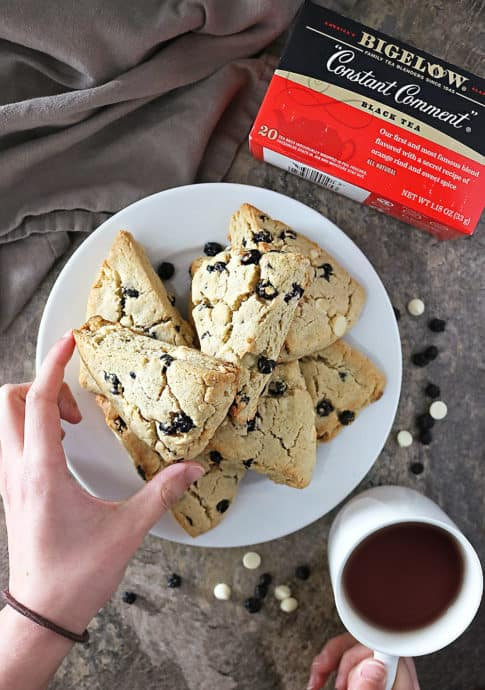 Photo of Blueberry White Chocolate Scones Afternoon Tea With Bigelow.