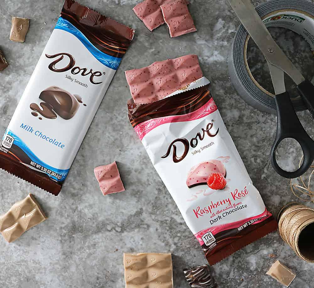 The New Dove Raspberry Rose Chocolate Bars