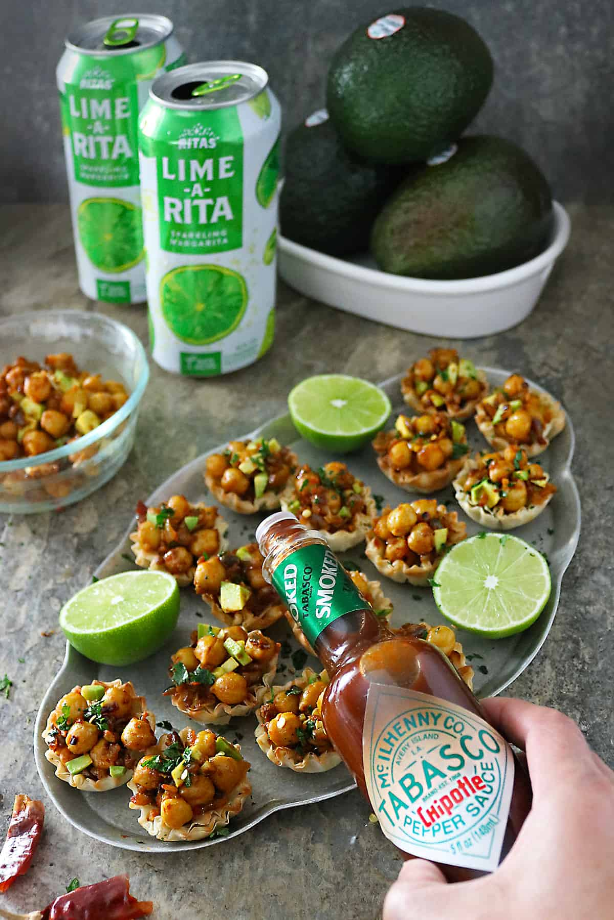 Easy Tasty Avocado Chickpea Cups for Game Day