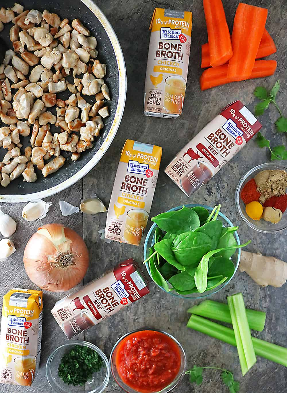 Kitchen Basics Bone Broth With Other Ingredients For Turkey Soup Photo