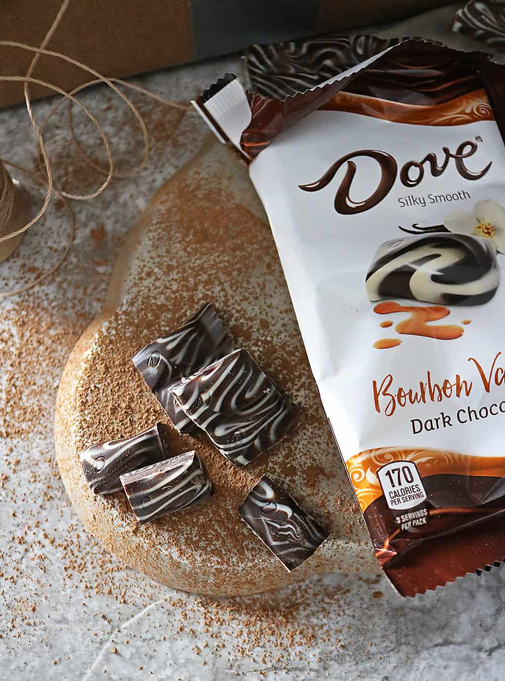 Delicious NEW DOVE Bourbon Vanilla Chocolate Bar.