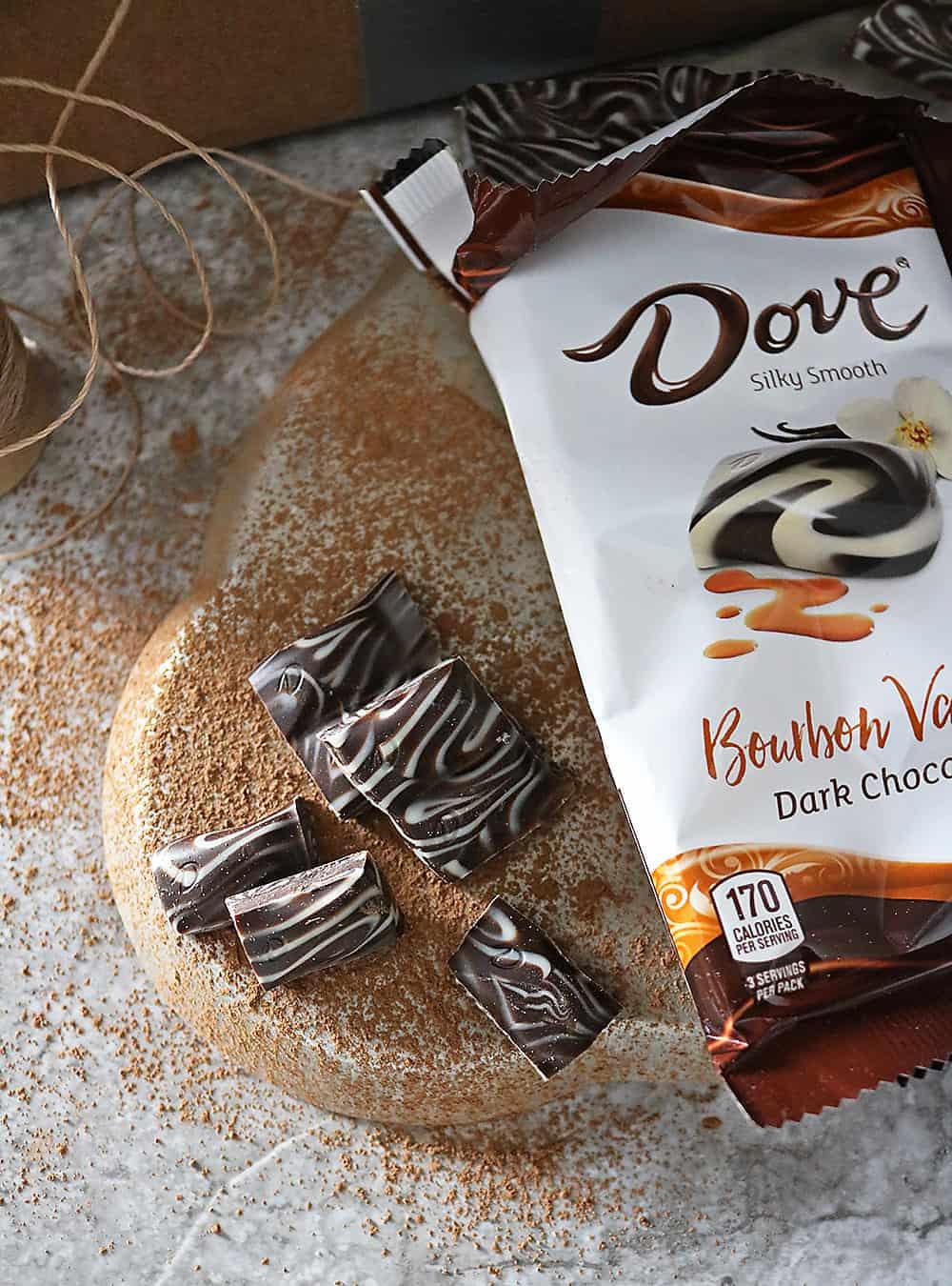 Delicious NEW DOVE Bourbon Vanilla Chocolate Bar.