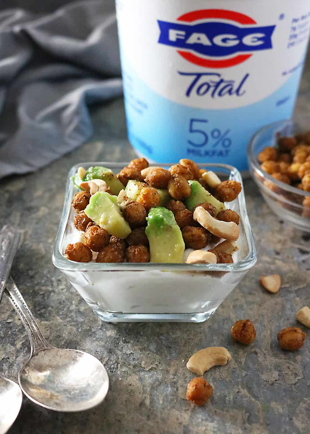 Photo Spicy Chickpea Avocado Yogurt Bowl.