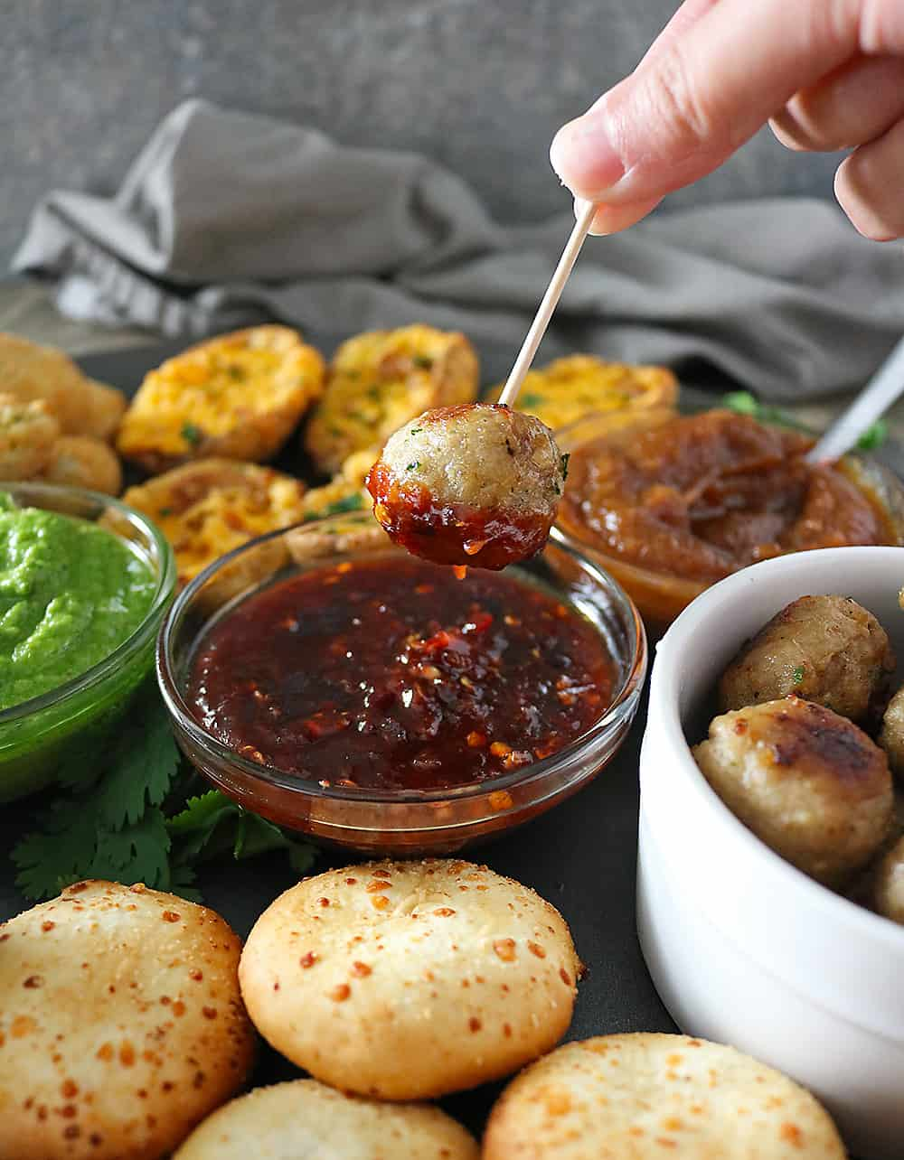 Delicious Spicy Maple- Chili Sauce And FarmRich Meatballs for the Big Game!