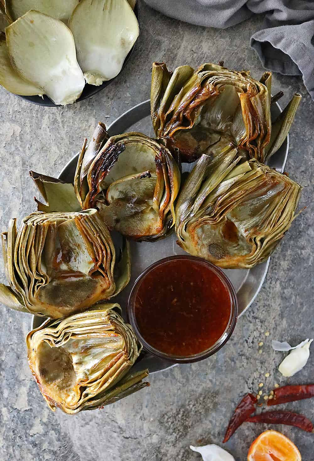 Baked Orange Chili Artichokes