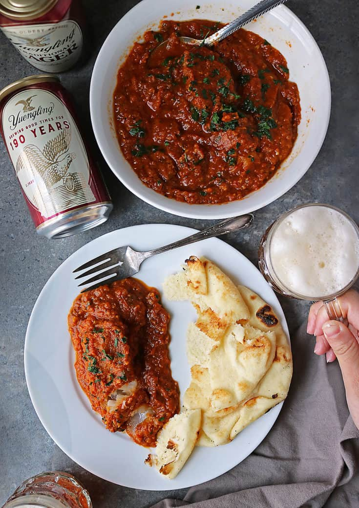 If you have 30 minutes at dinnertime, you can whip up this delicious, budget friendly and nutritious, fish curry. Pair it with some naan and Yuengling, and you have a delightfully delicious meal to end your day with.