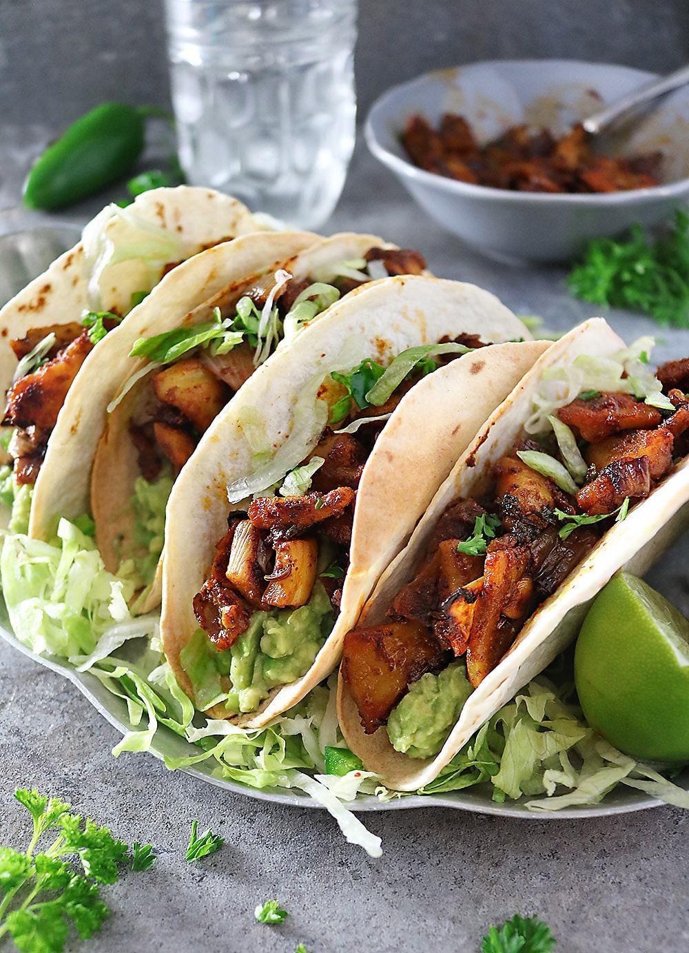 Easy and Delicious Jackfruit Tacos with canned jackfruit