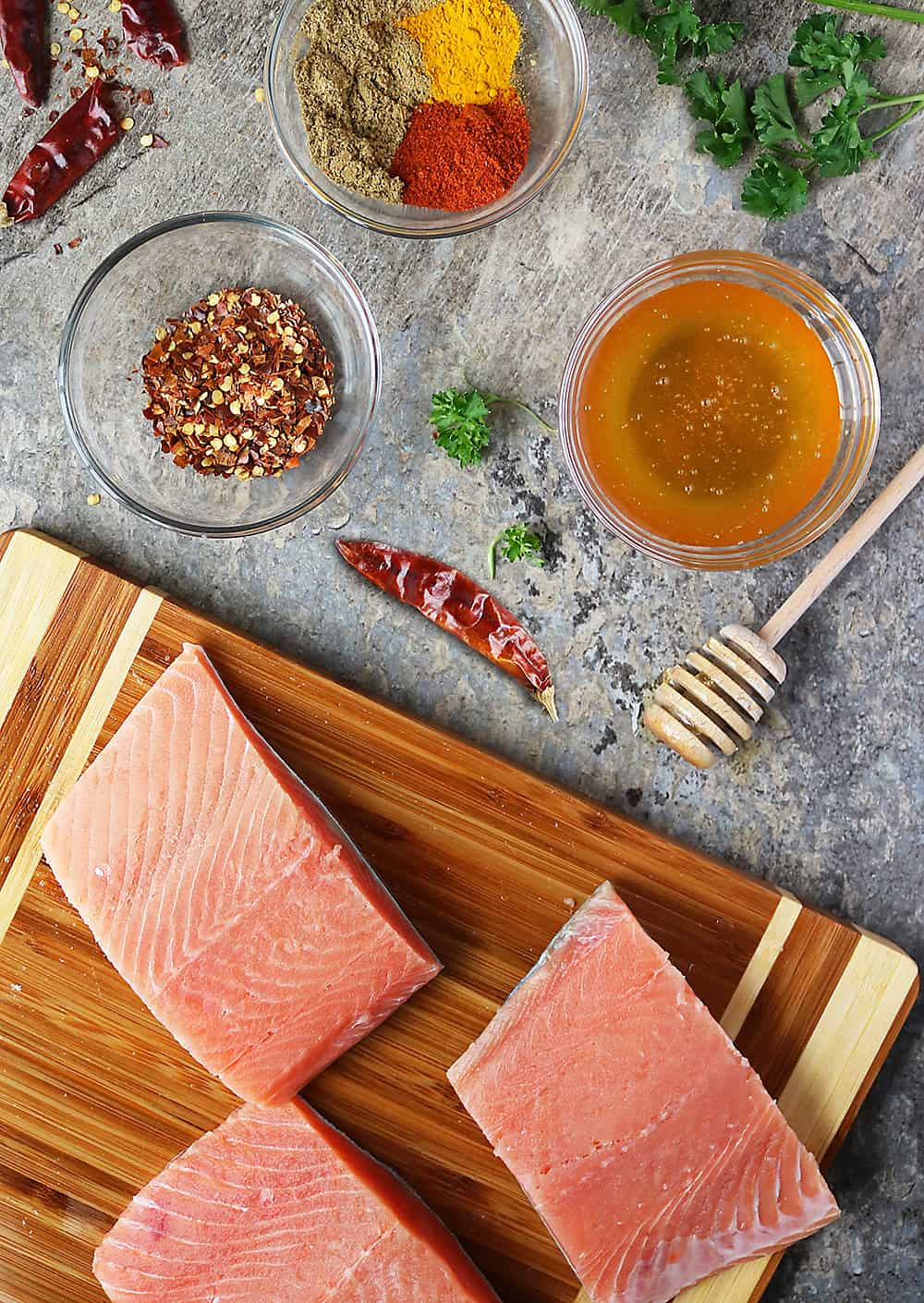 Ingredients To Make Easy Sweet Spicy Air Fryer Salmon