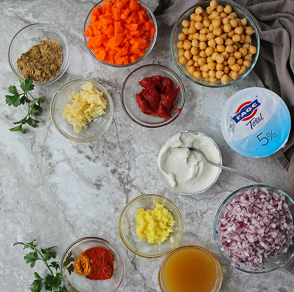 Ingredients To Make Delicious Chickpea Carrot Curry