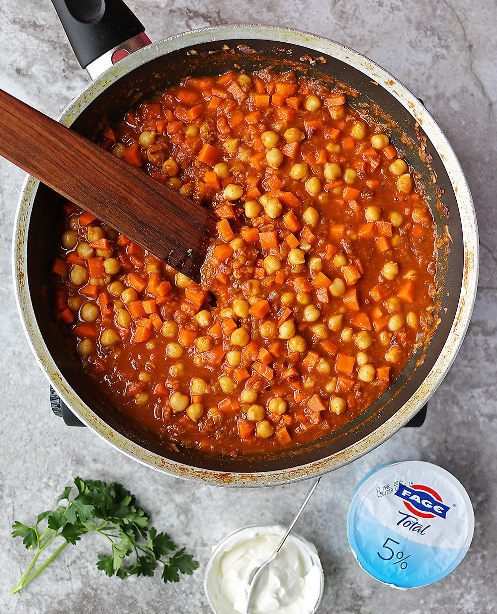 Making Delicious Chickpea Carrot Curry