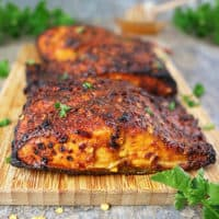 Easy Sweet Spicy Air Fryer Salmon