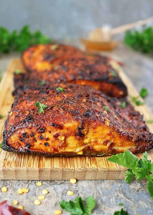 Easy Sweet Spicy Air Fryer Salmon
