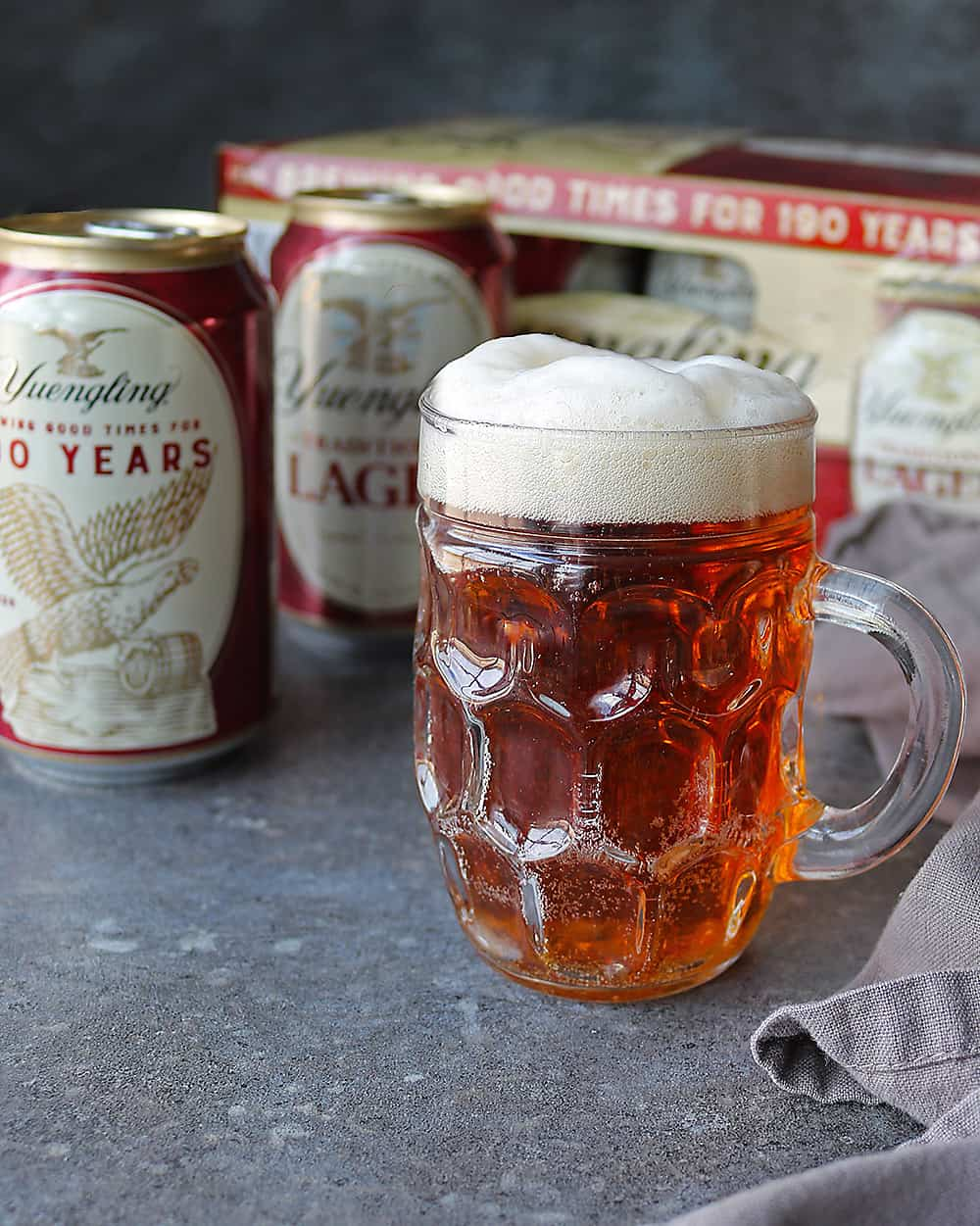 Delicious fizzy Yuengling