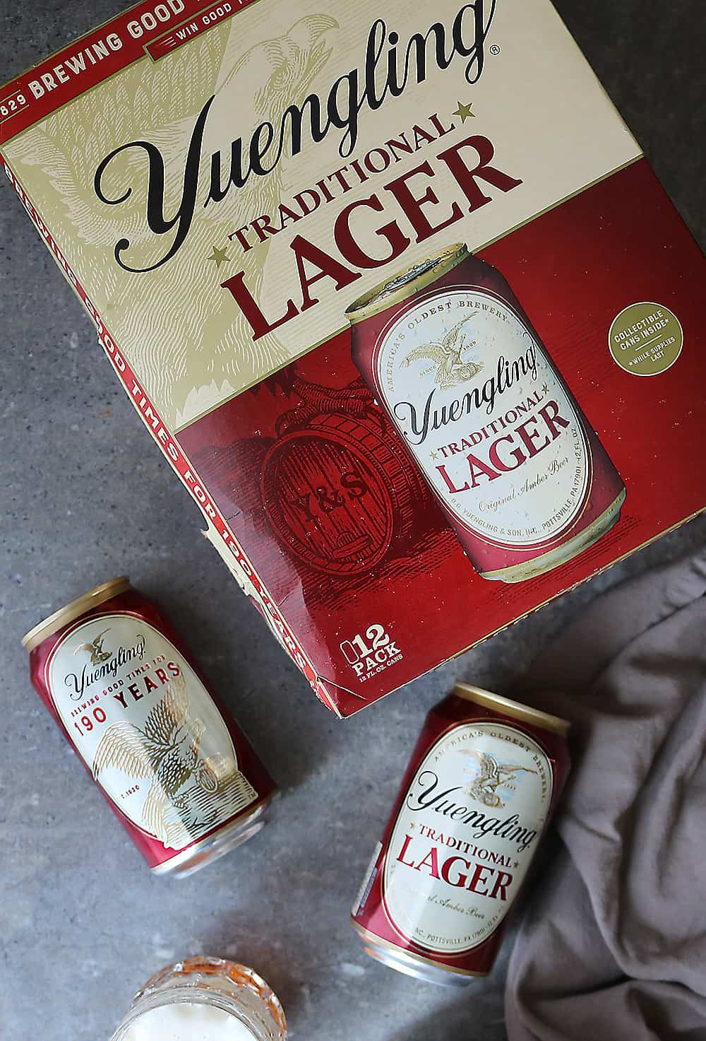 Yuengling 190th anniversary collectible cans