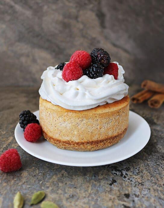 Delicious AirFryer Cinnamon Cardamom Cheesecake