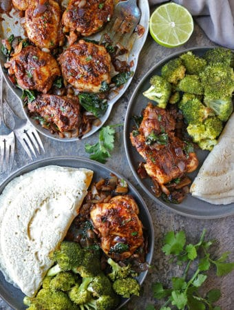 Super Simple Za'atar Ras el hanout Chicken Spinach Saute