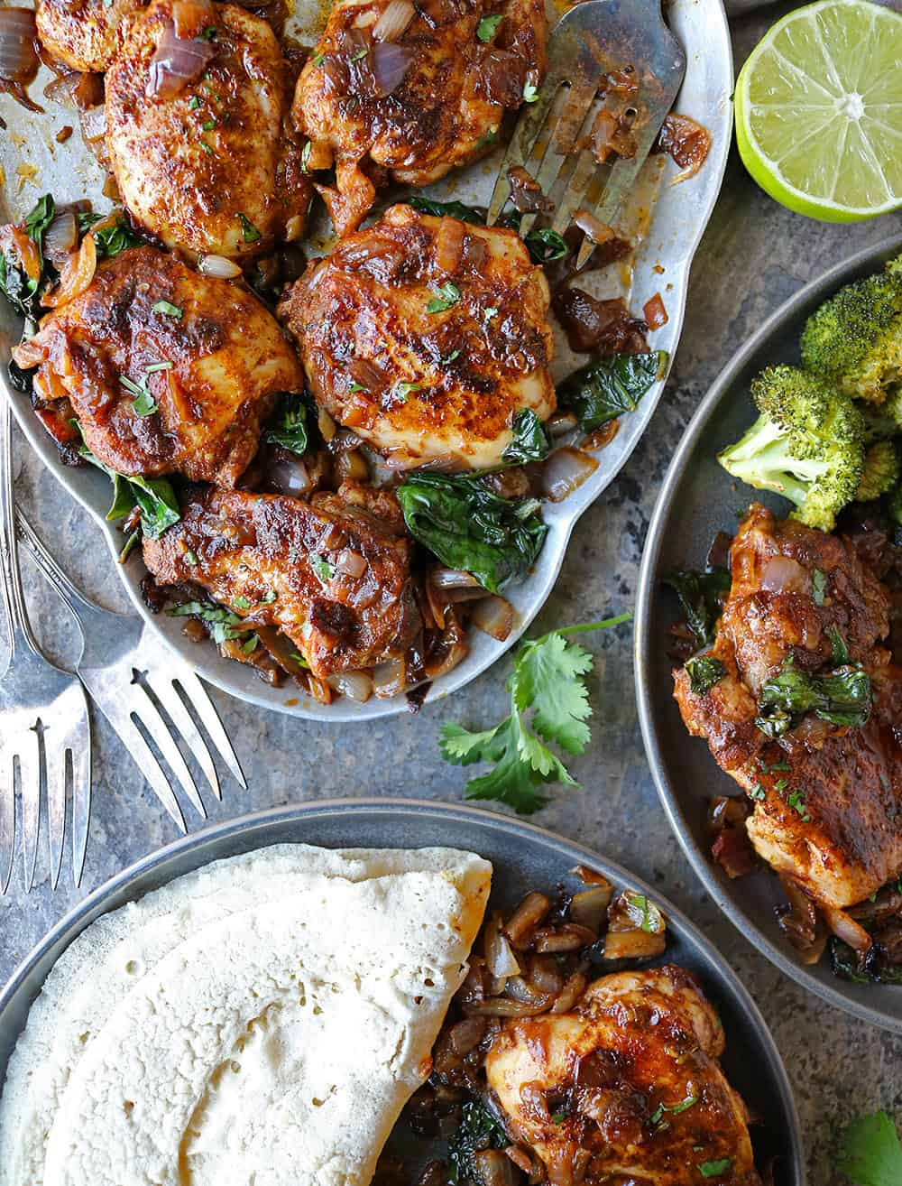 How To Make Easy Za'atar Ras el hanout Chicken Spinach Dinner today.