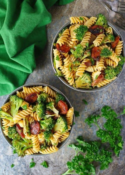 Easy Broccoli Sausage Pasta
