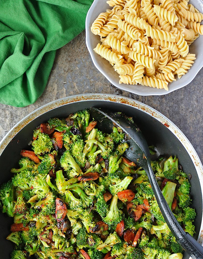 Tasty Spicy Broccoli Sausage And Pasta