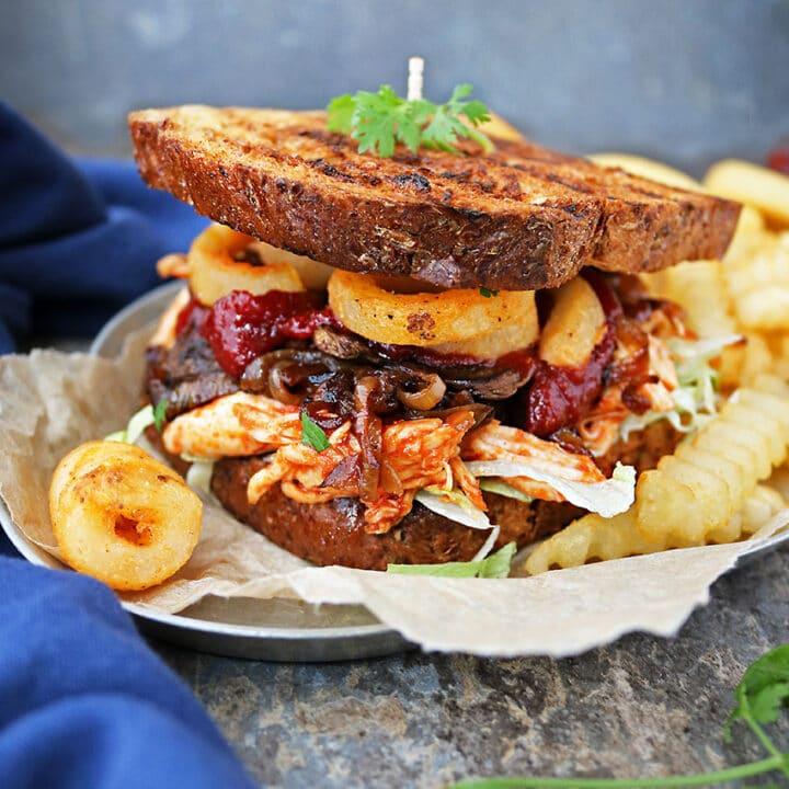 Sweet Spicy Chicken Fries Sandwich