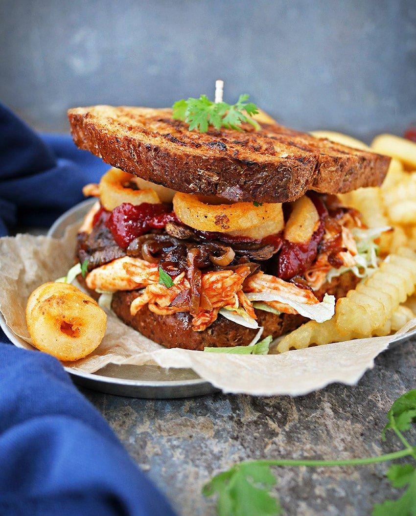 Sweet Spicy Chicken Fries Sandwich Recipe - Savory Spin