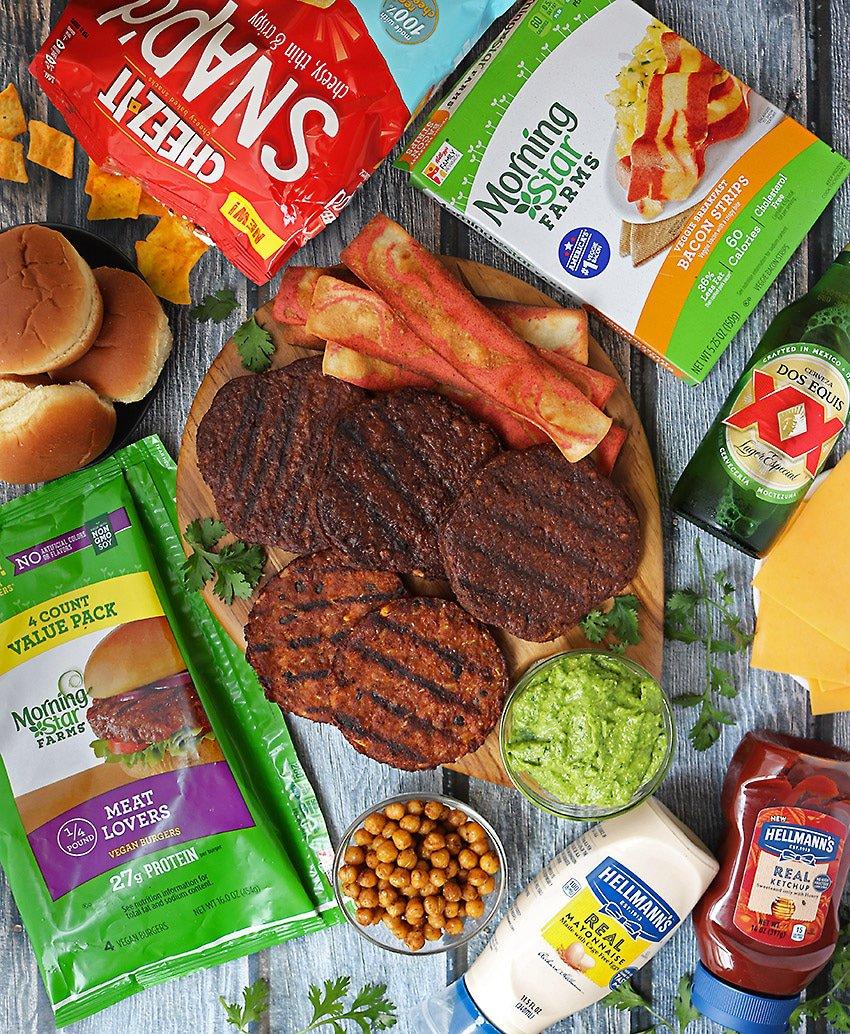 Burger Bar Recipes featuring MorningStar And Easy Green Goddess Sauce