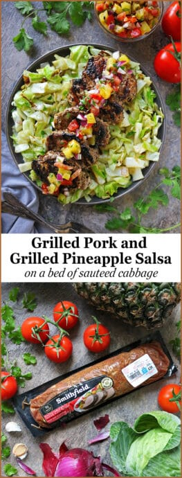 Easy Grilled Pork And Grilled Pineapple Salsa Dinner