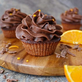 Air Fryer Chocolate Orange Cupcakes Picture