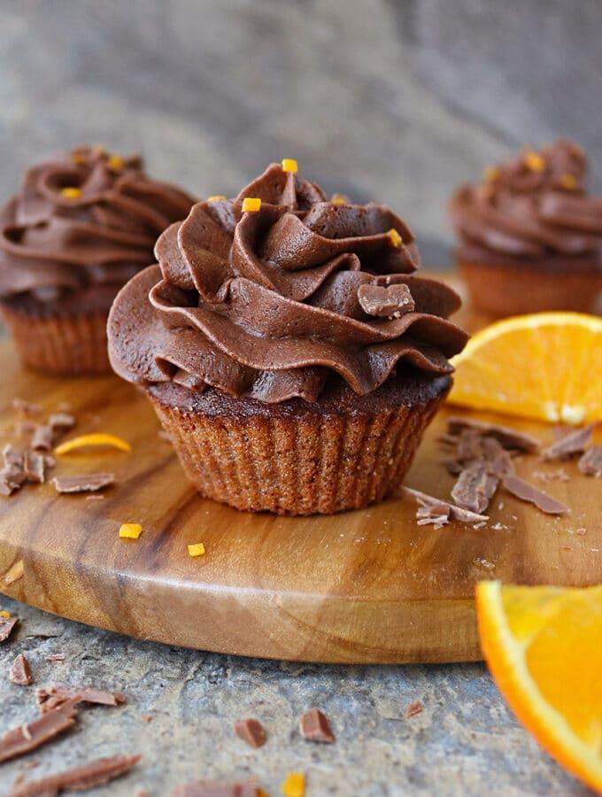 Air Fryer Chocolate Orange Cupcakes Picture